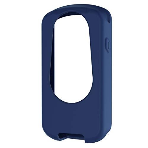 JIERUICHUAN Protector de Pantalla LLD for Garmin Edge 1030 Plus/Edge 1030 Universal Silicone Funda Protectora Cáscara Transparente (Color : Dark Blue)