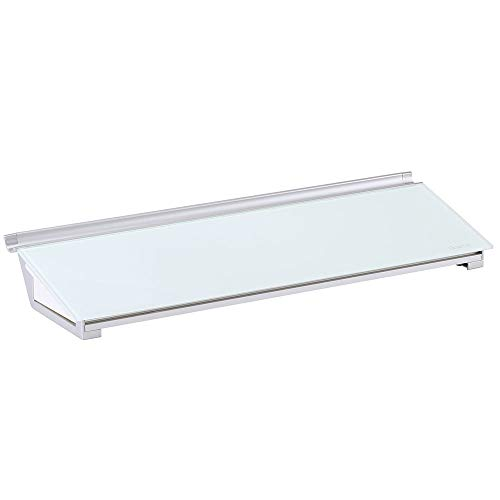 Quartet Pizarra blanca de cristal con cajón de almacenamiento, 18 x 6 pulgadas, superficie blanca de borrado en seco (GDP186)