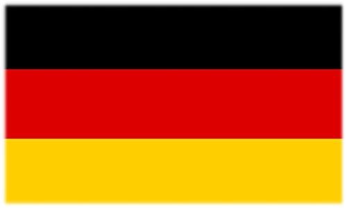 Flagge/Fahne Tattoo DEUTSCHLAND - 2 Paar (4 Stück) - nicht permanent - für Gesicht, Wange, Schulter, Arm, Hand
