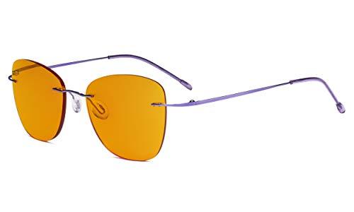 1.00 Gunmetal Eyekepper Occhiali da Lettura Progressivi Senza Telaio Occhiali Multifocus Senza Montatura con Filtro Luce Blu Lettore di Protezione UV Uomo Donna