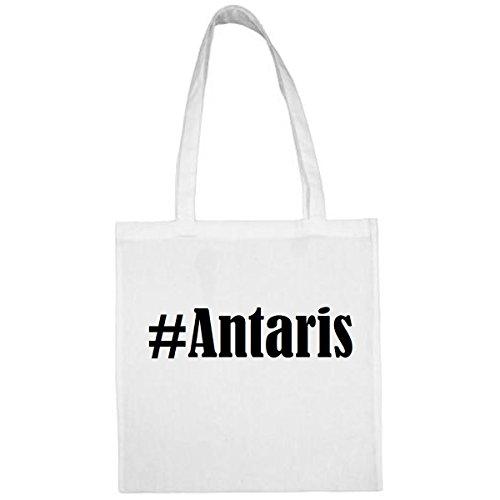 Tasche #Antaris Größe 38x42 Farbe Weiss Druck Schwarz