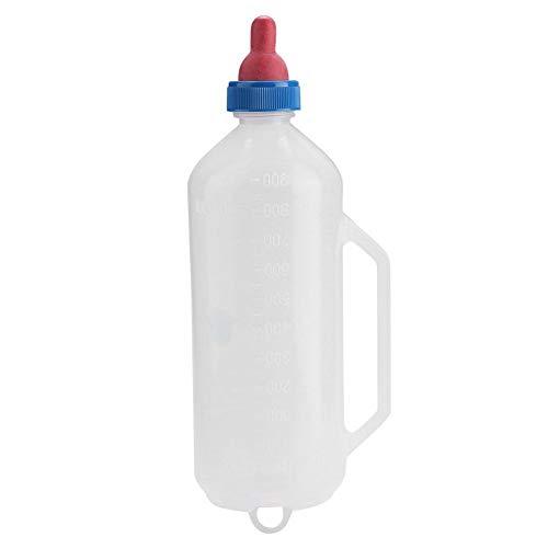 Rockyin Botella 1L Cordero Leche de bebé de Leche de Cabra La alimentación del alimentador de la Botella de enfermería con la manija