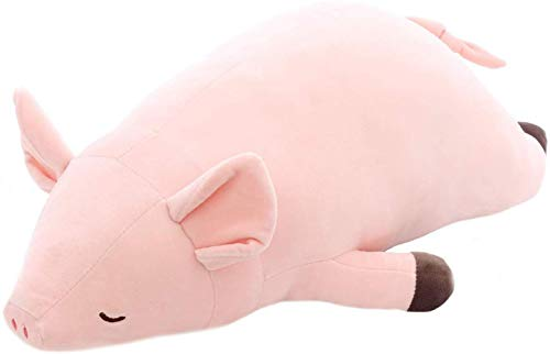 Anime Pig Plush Filled Pillow, Cute Pig Soft Toy, Kids Sleep Back Pillow Baby Cartoon Animal Stuffed Pillow Dollsgifts (C, 50cm)