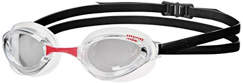 Arena Python Swim Goggles for Men and Women, Clear-White-Black, Non-Mirror Lens