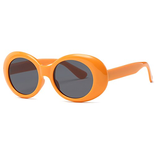 kimorn Clout Goggles gafas de sol para mujer Ovaladas marco Bisagras de metal Gafas K0567 (Amarillo&Negro)