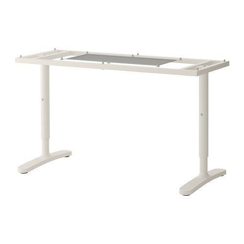 IKEA BEKANT - estructura inferior de la tapa de tabla, blanco - 140x60 cm