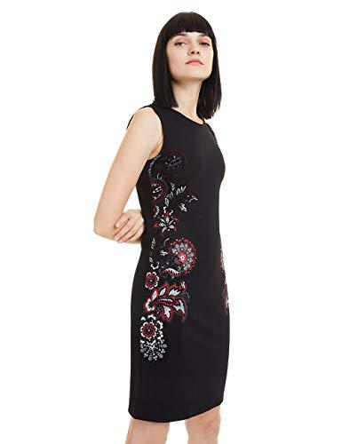 Desigual Damen Dress Denis Kleid, Schwarz (Negro 2000), Medium (Herstellergröße: M)