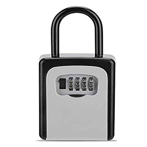 Key Lock Box Aan de muur bevestigde Cipher Box kan worden ingesteld op zichzelf 4-cijferige Combinatie key Kluis deurkruk of de muur bevestigde externe key Lock Box Combinatie sleutel Safe