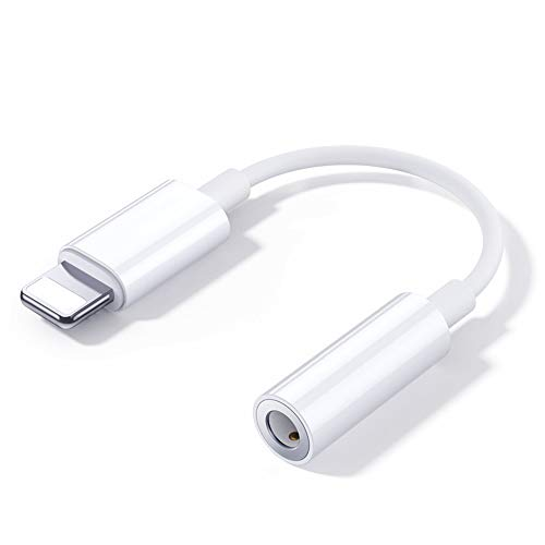 Adaptador de Auriculares para iPhone Dongle AUX Audio Jack Converter para iPhone...