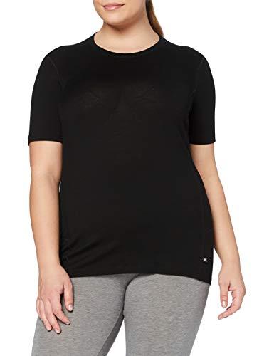 Odlo Natural T-Shirt Manches Courtes de Course à Pied Femme Noir FR : XL (Taille Fabricant : XL)