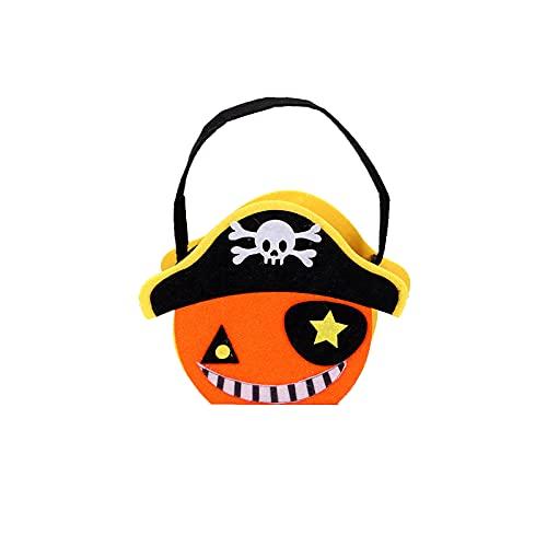 6 bolsas para caramelos, diseño de calabaza, para niños, bolsas para caramelos, dulces, etc., pirata,