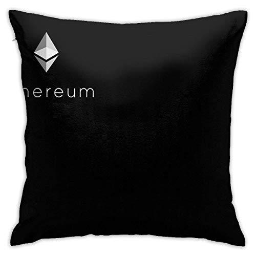 out Ethereum Logo Cushion Throw Pillow Cover Decorative Pillow Case for Sofa Bedroom Kissenbezüge 26x26Inch(65cmx65cm)