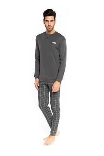 Melk en honing Heren 100% Interlock pyjama met Check Print.