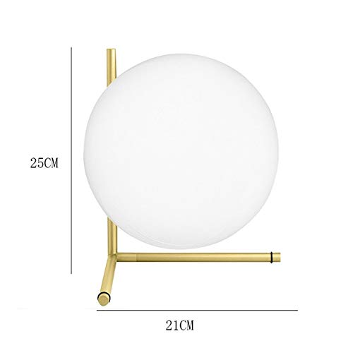 RAQ Led-tafellamp Loft wit glas bol bureau licht gouden tafellampen binnen slaapkamer nachtkastje decor bureaulamp 3