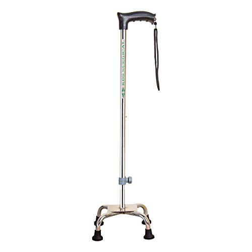 Kds Surgical 4 Leg Chroome Walking Stick (With Support)