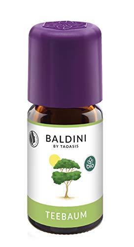 Baldini Teebaum BIO, 100% naturreines ätherisches Bio Teebaum Öl, 5 ml