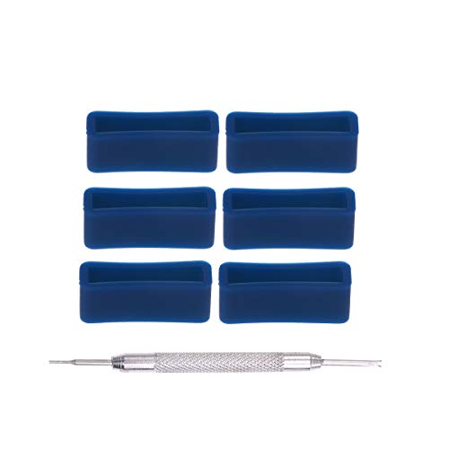 UKCOCO 6 cinturini per cinturini in silicone con cinturino in silicone di ricambio da 20 mm con strumento di riparazione
