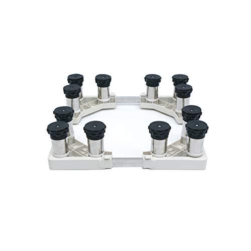 Base para Lavadora Ajustable 42-70cm Soporte Secadora Multi-Funcional Pedestal para Refrigerador Altura 13-16cm Zócalo para Secadora Antivibracion Almohadillas - 400kg