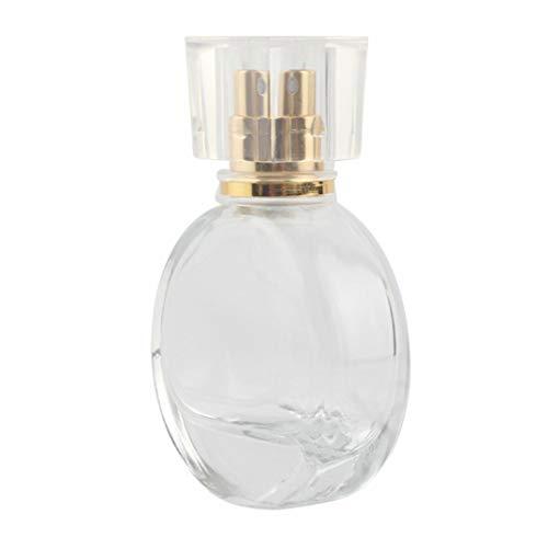 Ruby569y Bouteilles de voyage en silicone pour liquides, conteneurs vides de 25 ml Portable Recharge de voyage Vide Parfum Cosmétique Vide Vaporisateur Vaporisateur Vaporisateur – Doré