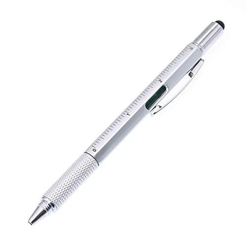 HAOXUE Balpen 1 Stks/diepte gereedschap Schroevendraaier Ball Point Pen Mentale Schaal met Horizontale Multifunctionele Plastic Handvat Zwart