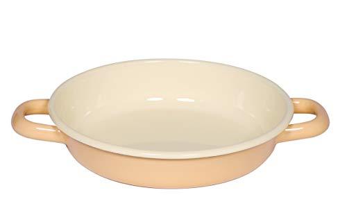 Riess, 0293-006, Eierpfanne, 18 cm, Classic Bunt/Pastell, Goldgelb, 4 cm hoch, Emaille, Bratpfanne, für Eiergerichte