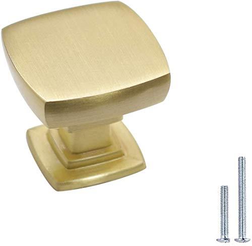 AngYou Perillas de gabinete cuadradas, manijas de Muebles de Acero Inoxidable, Asas de Muebles de cajón, cajonera, cajones, Handles de tirón de Agujero (Color : Curved Shape Gold, Size : 5)