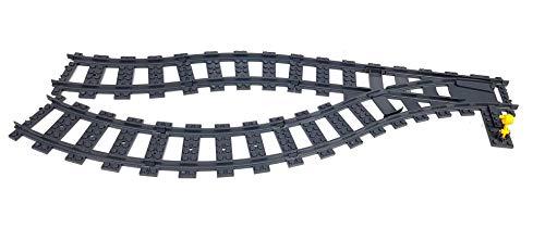 Lego Tren urbano ferroviario dar vuelta a la pista para el interruptor del sistema RC 1 y 17 pistas curvas para 60051, 60052, 60098