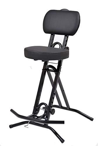 Stehhilfe Stehhocker Stehsitz Sitz Sitzhilfe Stehstütze mit 6 cm ergonomischer Polster bis 130 kg belastbar schwarz NEUHEIT