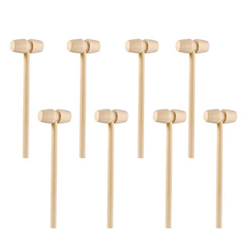 STOBOK 20 Stück Mini Holzhammer Hammer Schlagen Spielzeug Holz Krabben Hummer Schlägel Hammer für Schokolade
