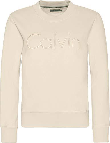 Calvin Klein Damen Hondi Calvin CN HWK L/S Sweatshirt, Cream Tan, Small