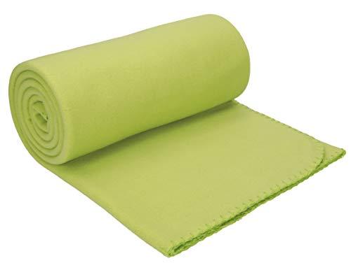 Betz Manta Polar Lujosa tamaño 130x170 cm Calidad 220 g/m² Fleece Blanket Manta Sofa Forro Polar de Color Verde Claro