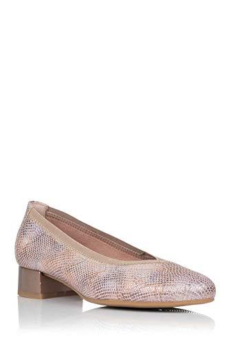 Pitillos Salon-Schuh aus Leder, Pink - Rosa - Größe: 37 EU