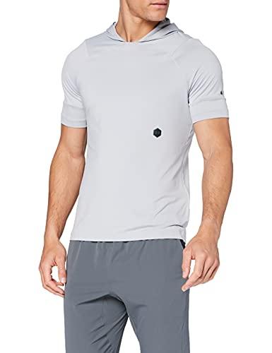 Under Armour UA Rush SS Hoodie Camiseta, Hombre, Gris (Mod Gray/Black 011), XL
