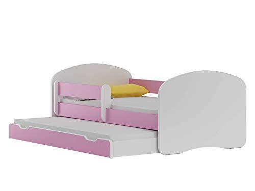 BDW NEU Kinderbett mit 2 Liegeflächen und 2 Matratzen DOPELLBETT 180x90 Rosa - für Mädchen und Jungen JUGENDBETT || KOSTELNOS Versand ||