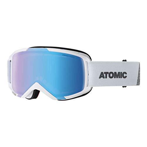 Atomic AN5105846 Savor Photo, Maschera da Sci All-Mountain, Unisex, Medium Fit, Lente Fotocromatica, Bianco/Blu Fotocromatico