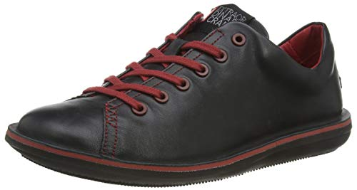 Camper - Zapatos de cordones de cuero para hombre, Negro (Noir (Muffler Negro/Human Negro)), 44