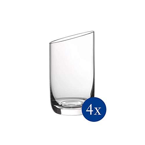 Villeroy & Boch 11-3653-8070 NewMoon Becher Set, 4tlg, Elegantes, modern geschnittenes Glas für jeden Tag, Kristallglas, klar, spülmaschinengeeignet