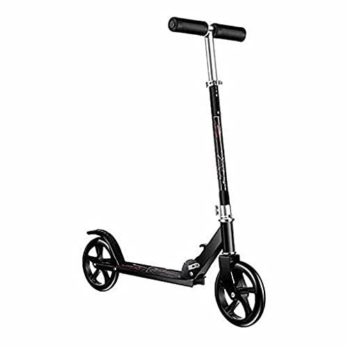Scooter de 2 Ruedas Stunt ScooterScooter de Ruedas, Scooter Plegable, con asa Ajustable, Capacidad de Carga de 100 kg (Color: Negro)