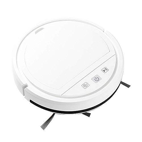 Robot Vacuum Cleaner, Wi-Fi Connecte'd Robotic Vacuum with 2000mAh Battery Capacity, Anti-Collision Sensor Automatic Home Cleaning for Pet Hair, Carpet and Hard Floor, 365 Degree Rotation,White LATT LIV