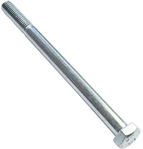 AERZETIX - Juego de 5 piezas - Pernos M12x160 parcialmente roscados - Cabeza Hexagonal - Ø12x160mm - DIN 931 - Clase 8.8 - Acero galvanizado - Bricolaje - Herramienta de montaje/Ferretería - C47557