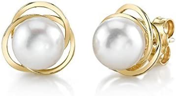 Finally popular brand THE PEARL SOURCE 14K Gold AAA New product!! White Genuine Round Quality Akoya