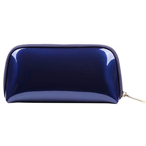 Voyage Sac de Rangement Sac de Lavage Sac cosmétique Femme Main PVC Shell Sac cosmétique 22 * 5 * 11 CM Bleu Royal