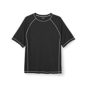 Amazon Essentials Men's Big & Tall Short-Sleeve Quick-Dry UPF 50 Swim Tee fit by DXL