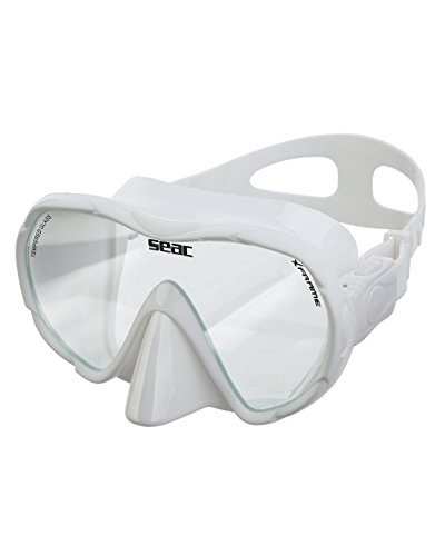 Seac duikmasker/snorkelmasker, zonder frame, X-frame van siliconen, groot gezichtsveld