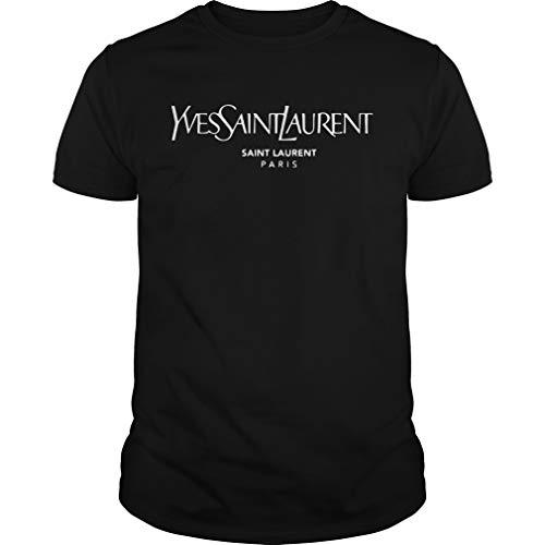 Yve.s Sain.t L.aurent Paris Unisex -Front Print Tshirt for Men and Women.