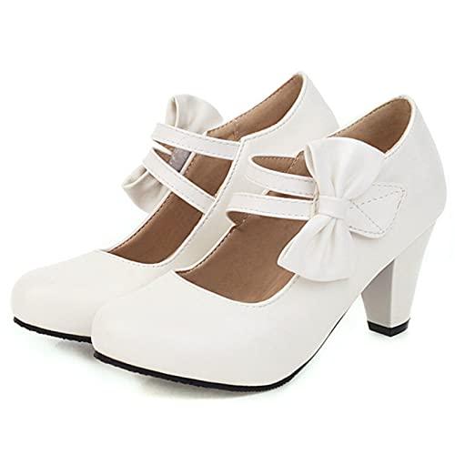 JOYOTER Zapatos de tacón para mujer, elegantes y cómodos, Mary Janes para...