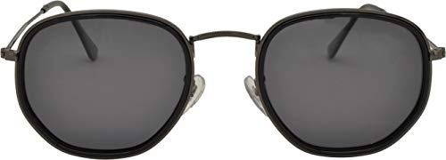 SQUAD Gafas de sol polarizadas Con cierre de aro, Para hombre y mujer, Aviador/Polígono marco mixto de plástico y metal, protección UV400