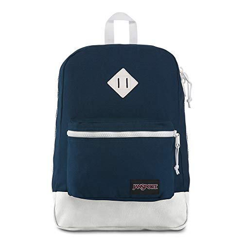 JanSport Super FX Backpack - Trendy School Pack With A Unique Textured Surface | Blue Workwear