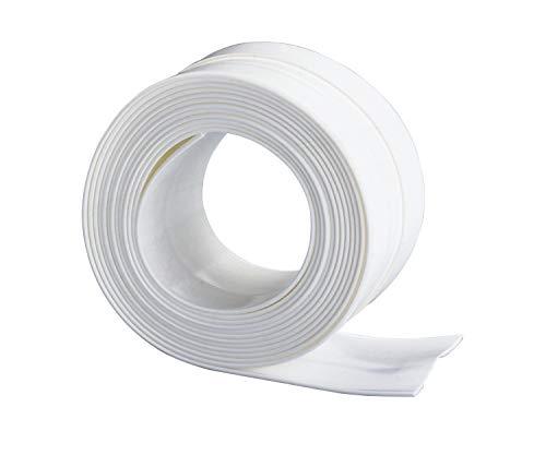 WENKO Abdichtungsband Extrabreit - wasserundurchlässig, beständig gegen Reinigungsmittel, Kunststoff, 5 x 0.2 x 350 cm, Weiß