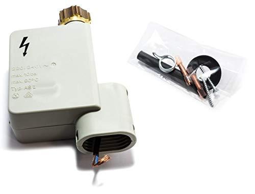 Elektrische waterklep AQUASTOP 90¡C 10BAR 10,5 mm voor Vaatwasser